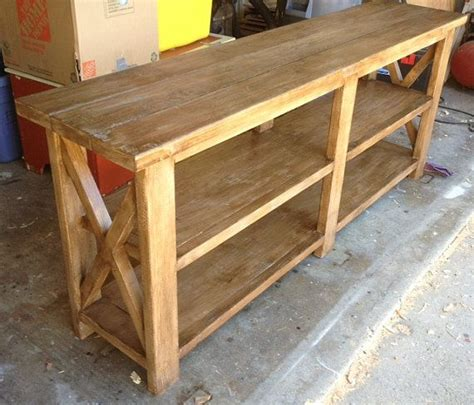 rustic x console table discover and save creative ideas