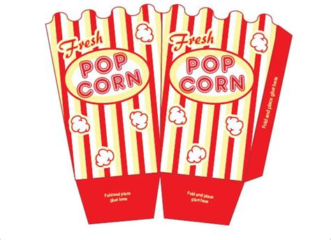 How To Make A Popcorn Box Out Of Paper - popcorn box template 10 free sle exle format