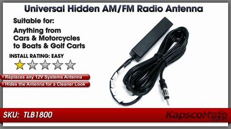 am fm antenna universal motorcycle and car radio windshield antenna
