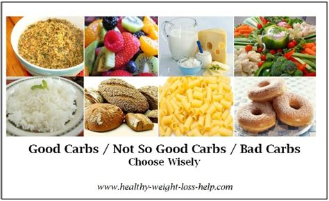 carbohydrates vitamins carbs and bad carbs list for weight loss weight