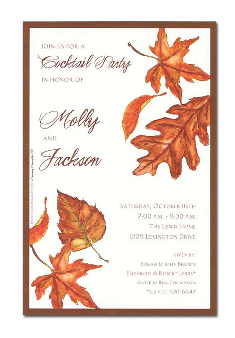 free printable fall invitation templates fall invitations