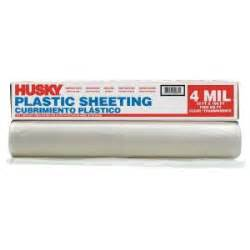 home depot plastic sheeting husky 10 ft x 100 ft clear 4 mil plastic sheeting