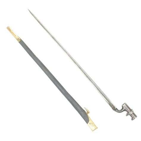 henry bayonet original british p 1876 henry rifle socket bayonet