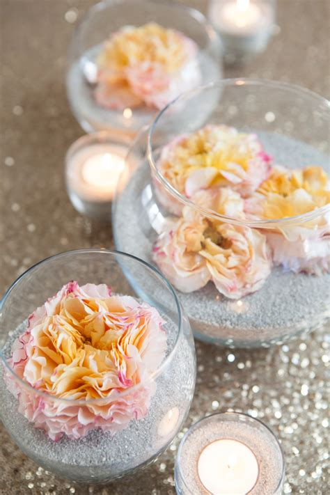 diy flower arrangement simply sona make these gorgeous sand and flower centerpieces
