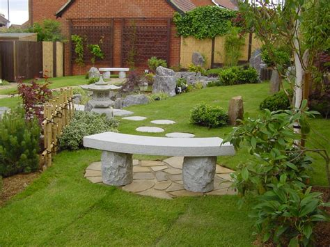 japanese curved stone bench build a japanese garden uk