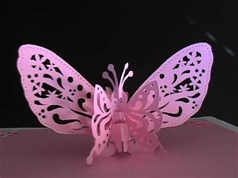 butterfly pop up card template free templates to make popup butterfly kirigami