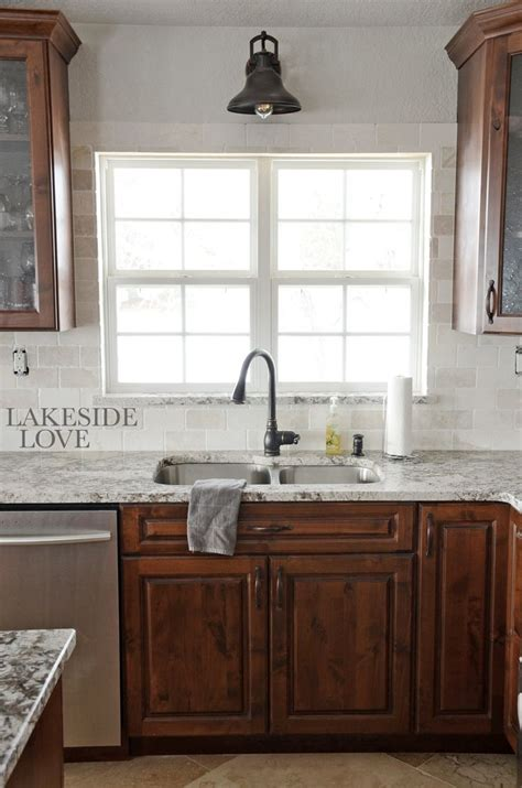 Pictures Of Kitchens With Backsplash - backsplash marble rustic alder kitchen lakeside love diy pinterest marbles rustic and