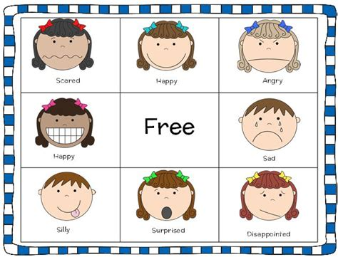 free printable emotions board game free printable 8 best images of emotions bingo printable game body