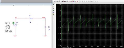 passive integrator circuit voltage passive integrator circuit in pspice electrical engineering stack exchange