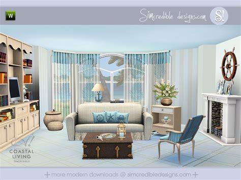 Simcredible S Coastal Living Sims 3 Living Room Sets