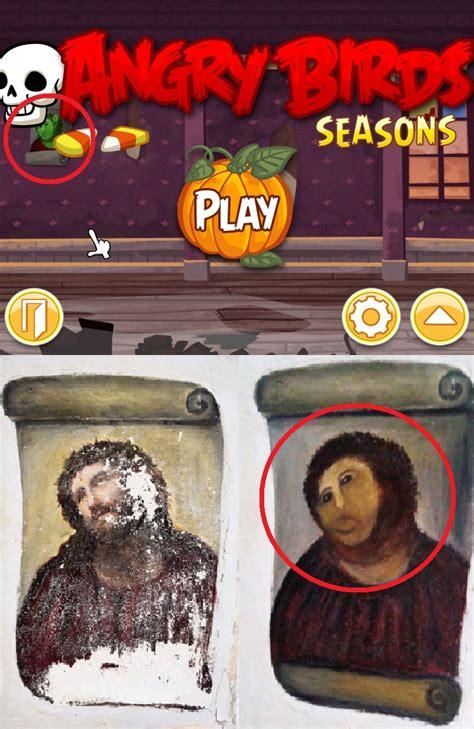 Fresco Jesus Meme - angry birds seasons jesus quot piggie quot fresco botched ecce