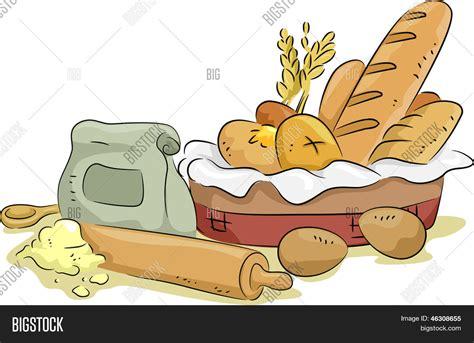 clipart pane illustration basket bread baking vector photo bigstock