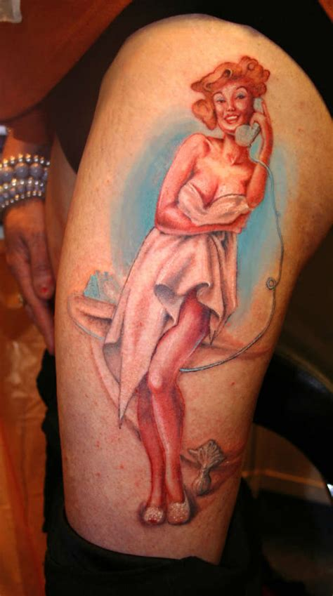 work in progress 1950 s pin up tattoo