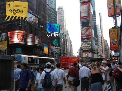 Silplate New City 2005 file times square new york city flikr 7 looking south jpg wikimedia commons