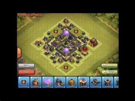 layout coc th5 anti giant clash of clans epic anti giant healer farming th5 base