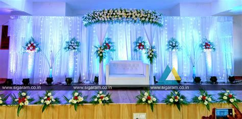 Reception stage decoration at Sri SaiRam mahal, ECR
