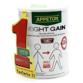 Appeton Weight Gain 450gr gemuk appeton weight gain 450gr rasa coklat penambah