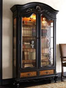 Bookcase With Doors Black Black Wood Bookcase With Doors The Best Wood Furniture