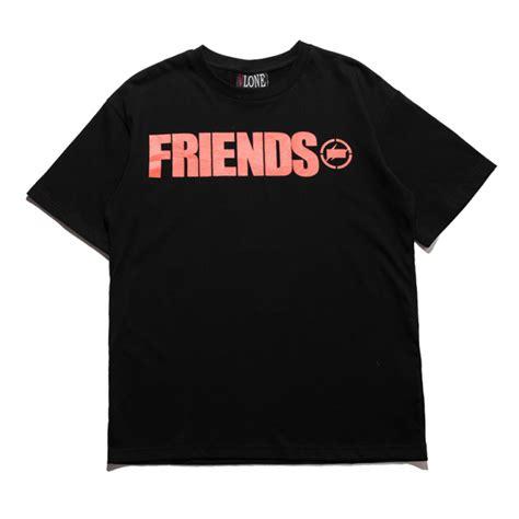 T Shirt Vlone vlone fragment friends t shirt black