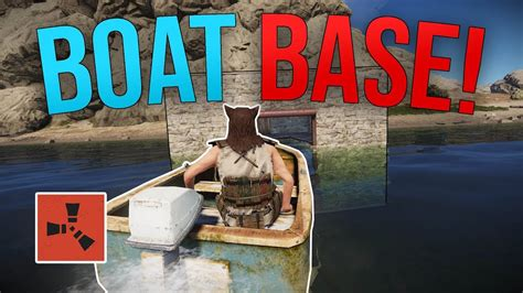 how to make a boat base rust setting up an awesome boat base rust solo youtube