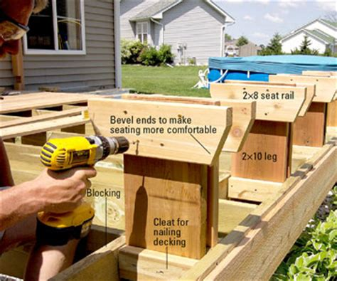 built in deck bench built in deck bench seat plans pdf woodworking