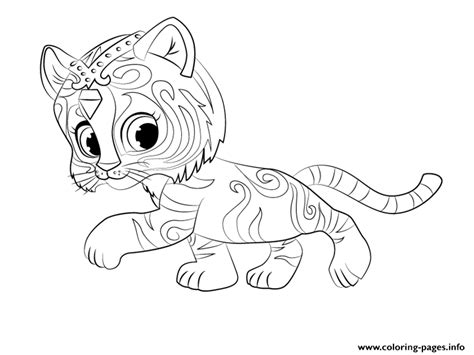 printable coloring pages shimmer and shine tiger nahal from shimmer and shine coloring coloring pages