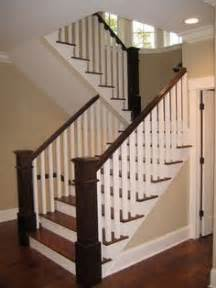 wood banisters and railings thought i d share a before and after pic of our staircase