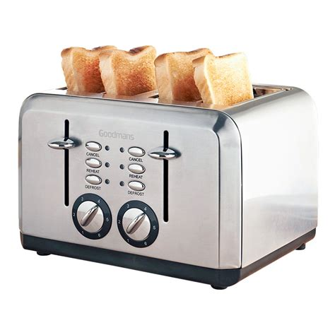 Shower Bath Uk goodmans 4 slice toaster stainless steel kitchen b amp m