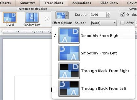 slide transitions in powerpoint 2011 for mac slide transition effect options in powerpoint 2011 for mac