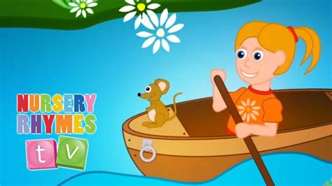 row your boat kindergarten row row row your boat nursery rhymes tv toddler