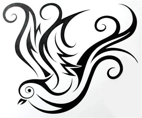 tribal swallow tattoo tribal design