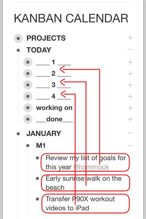Tomorrow Day Calendar Kanban Calendar Workflowy Style Productivity Mashup