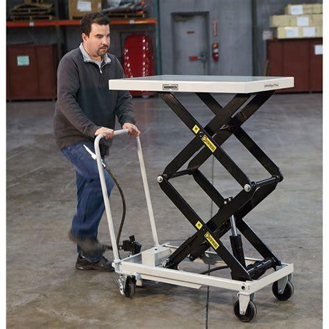 hydraulic lift table cart roughneck air hydraulic lift table cart 770 lb capacity
