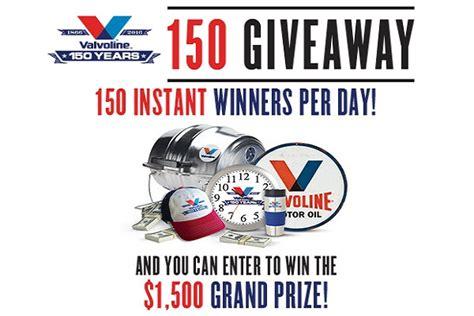 Valvoline Giveaway - valvoline 150 giveaway sweepstakesbible
