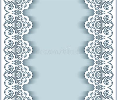 Paper Lace Templates Card by Paper Lace Border Background Stock Vector Illustration