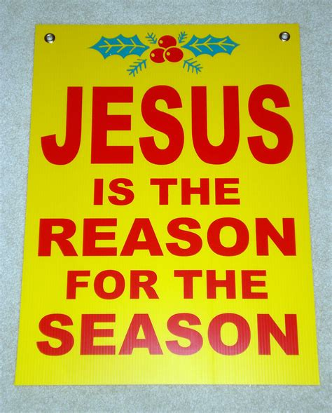 jesus is the reason for the season led christmas decorations jesus is the reason for the season coroplast sign 18x24 yellow ebay