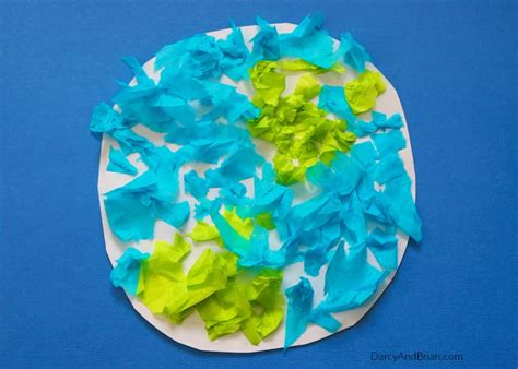 How To Make Paper Earth - easy tissue paper earth day craft for
