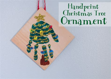 how to make a handprint christmas tree ornament candle