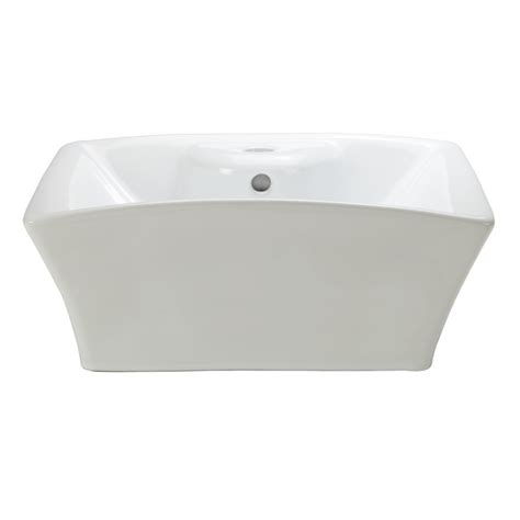 square sink bathroom shop decolav classically redefined white vessel square