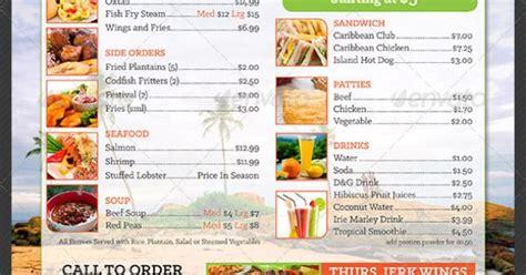 Caribbean Restaurant Take Out Menu Template Caribbean Restaurant Menu Templates And Caribbean Free Caribbean Menu Template