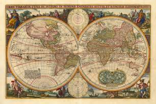 Vintage World Maps by Their Expression Quot Sailed The Seven Seas Quot Meant Sailing To