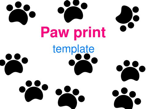 Paw Print Template Clipart Best Paw Print Powerpoint Template