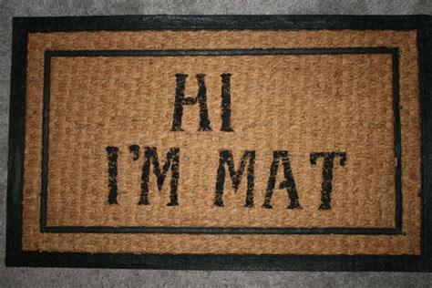 Hi I M Mat Doormat by In The Pin 06 Front Door Mat
