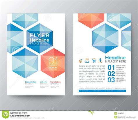 layout flyer abstract hexagon poster brochure flyer design template