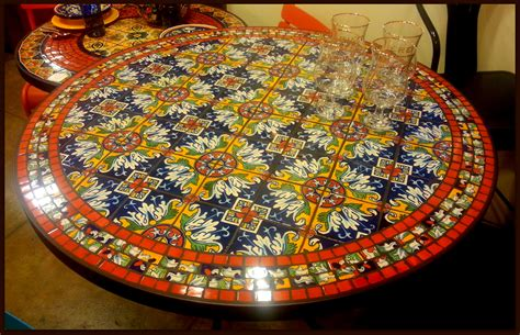 Mosaic Kitchen Table Tile And Glass Mosaic Tables