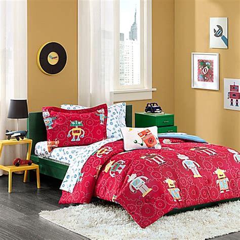 bed bath and beyond kids bedding buy mi zone kids rockin robots twin comforter set in red