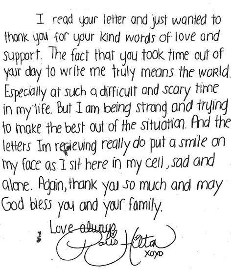 Pariss Letter To Fans s letter to fan i m being strong