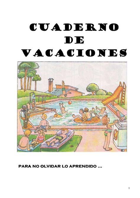 cuaderno de vacaciones para 841629058x 1 cuaderno de vacaciones