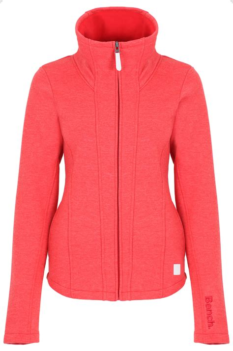 red bench jacket bench hallrule b zip up sweat jacket in red lyst