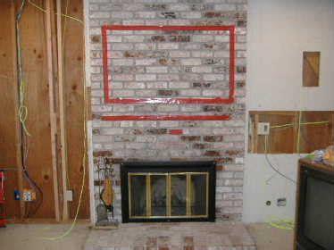 mount tv on brick fireplace hide wires fireplace brick veneer tv mounting building construction diy chatroom home improvement forum